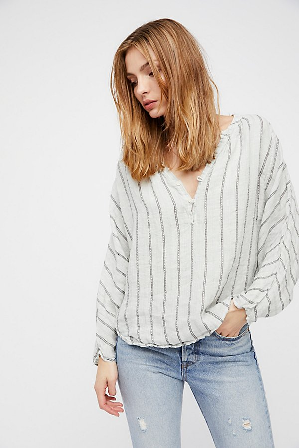 Slide View 2: Striped Dolman Swing Blouse