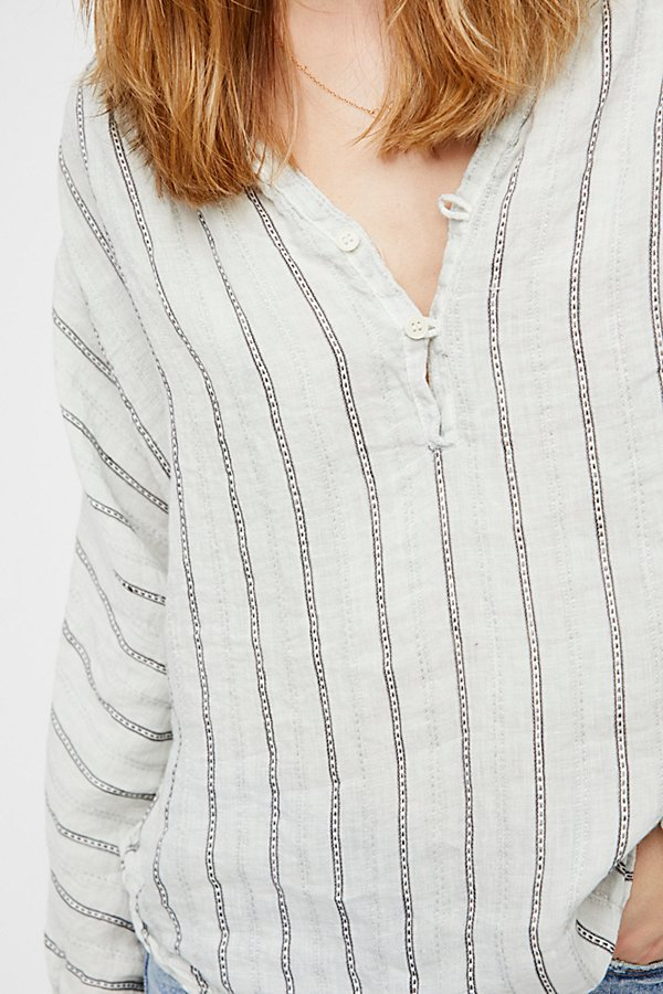 Slide View 4: Striped Dolman Swing Blouse