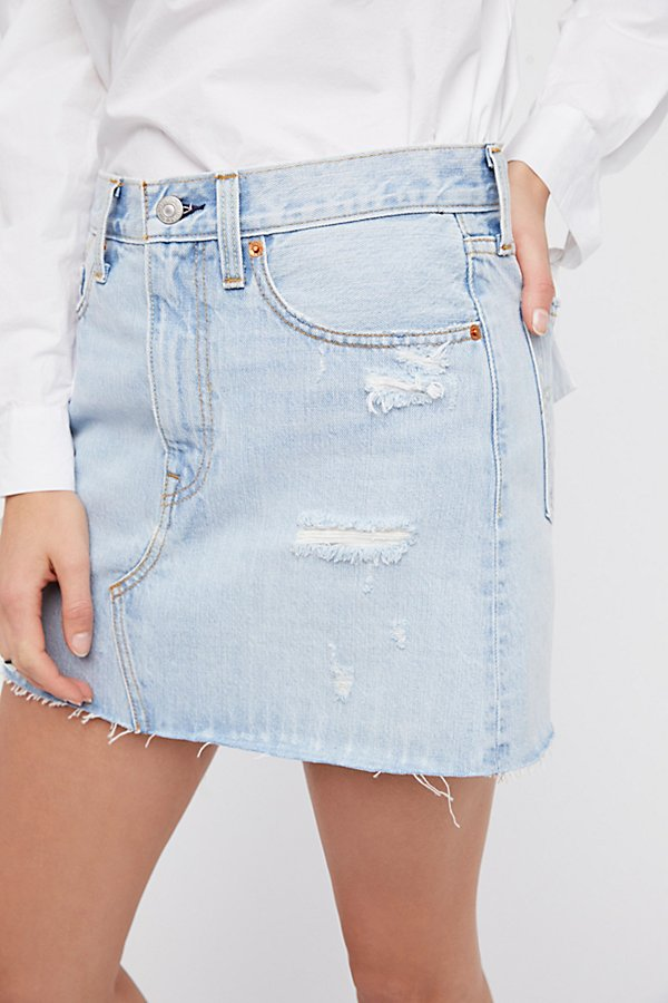 Slide View 3: Deconstructed Denim Skirt