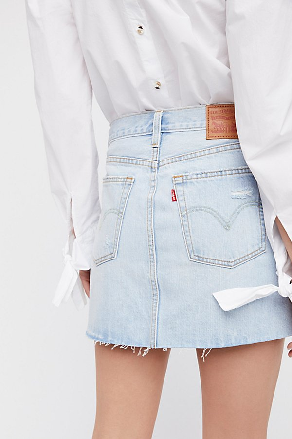 Slide View 4: Deconstructed Denim Skirt