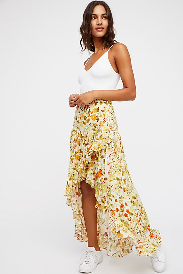 Slide View 1: Sayulita Frill Split Skirt
