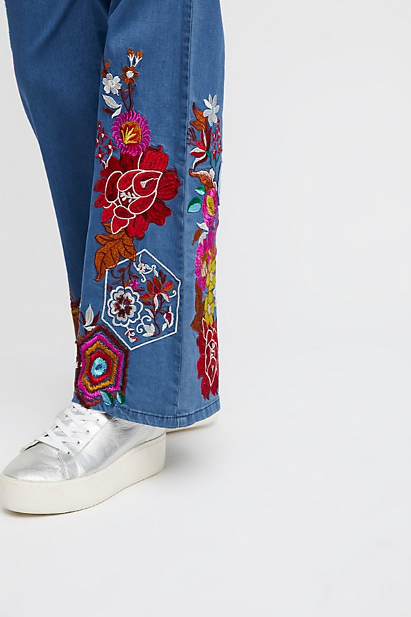 Slide View 5: Flower Child Denim Flares
