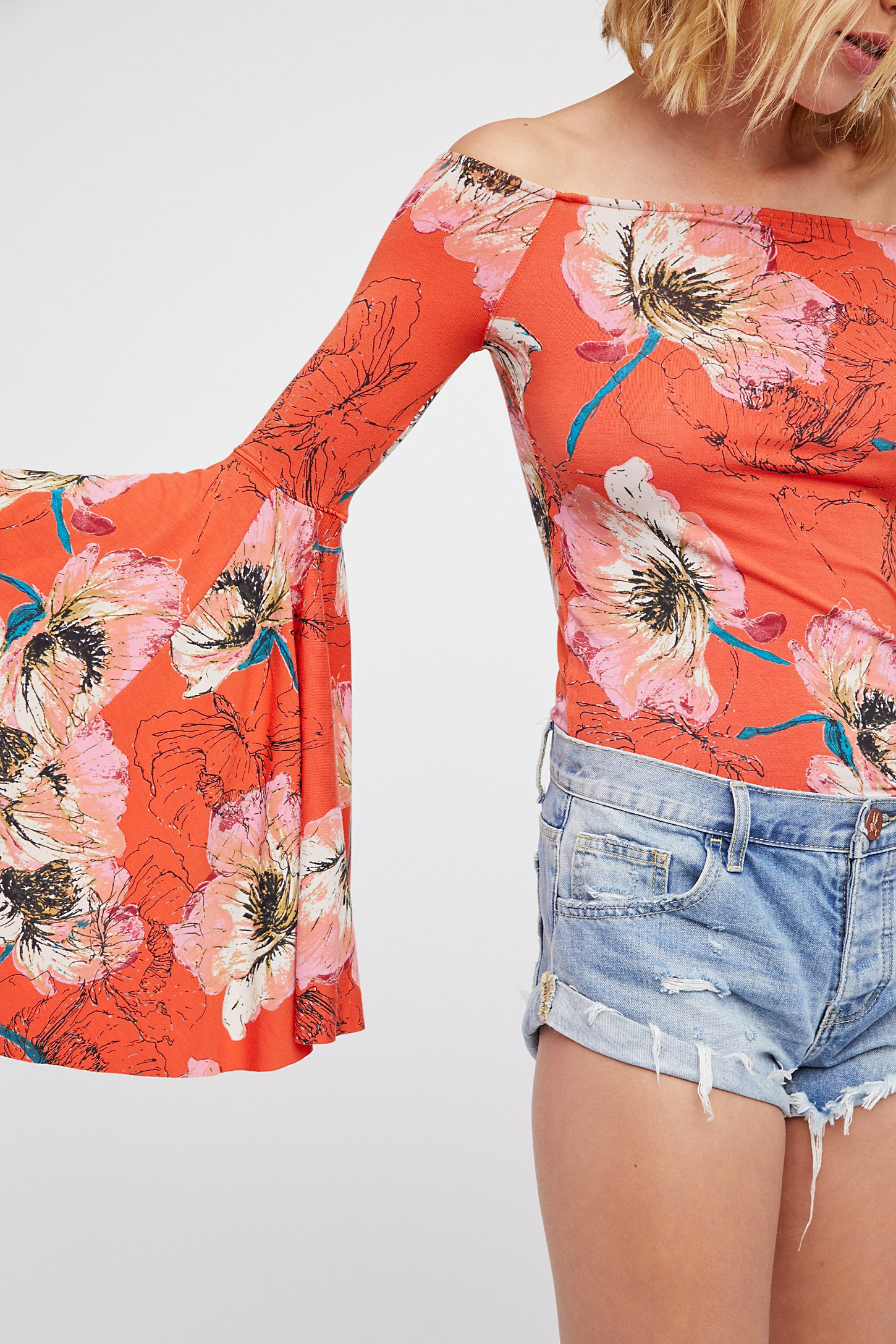 we the free printed birds of paradise top free people uk