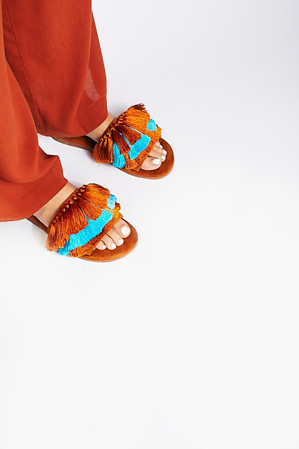 Slide View 1: Watercolor Tassel Sandal