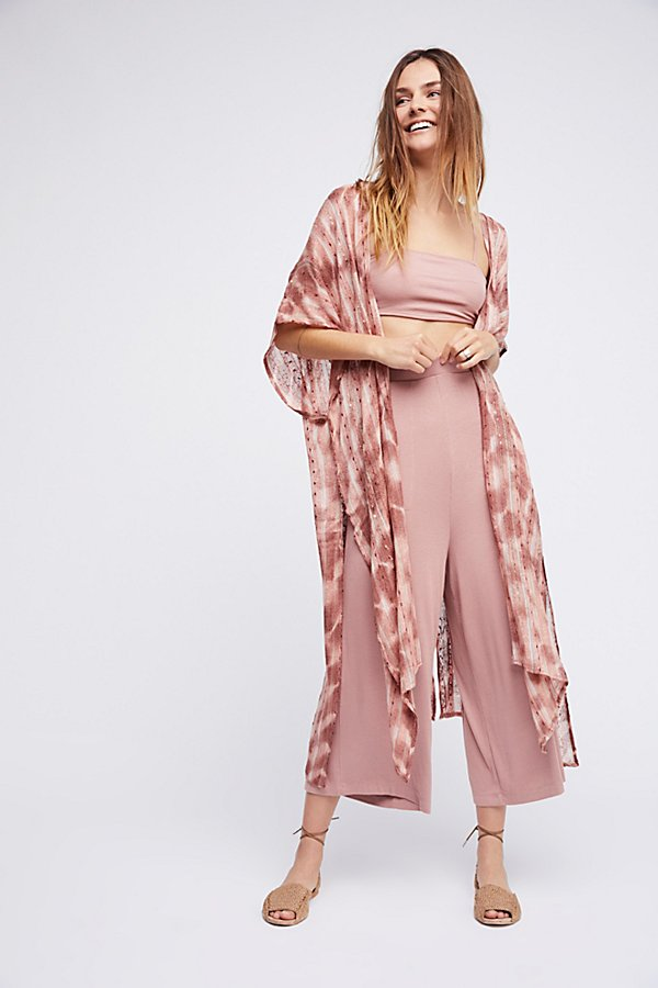 Slide View 1: Out To Sea Maxi Kimono
