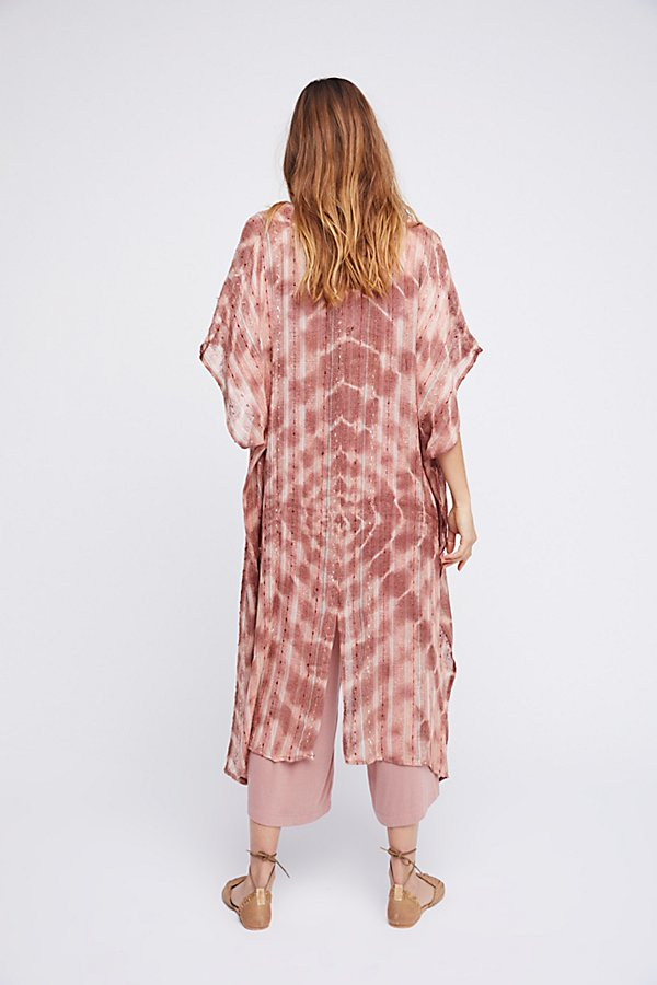 Slide View 2: Out To Sea Maxi Kimono