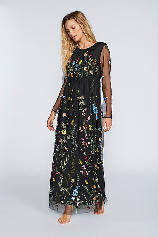 Slide View 1: Yasmin Embroidered Maxi Dress