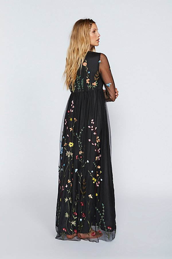 Slide View 2: Yasmin Embroidered Maxi Dress