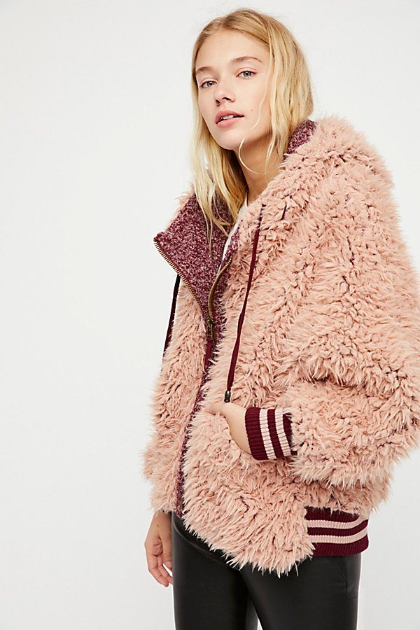 Slide View 1: Fluffy Dolman Jacket