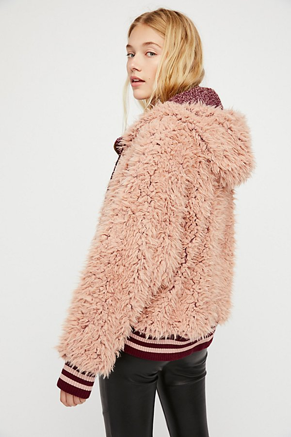 Slide View 2: Fluffy Dolman Jacket