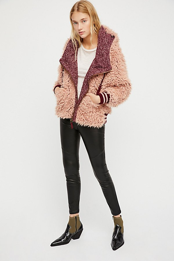Slide View 3: Fluffy Dolman Jacket