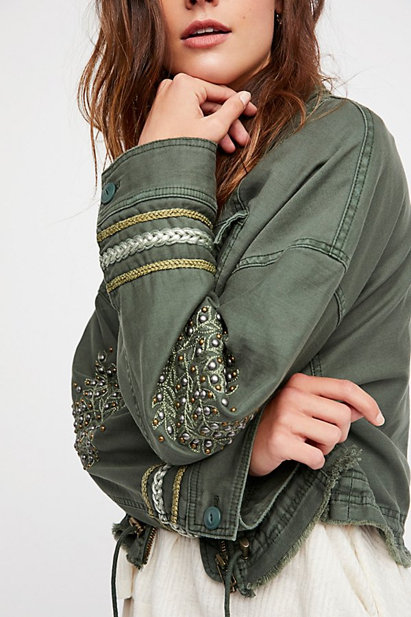 Slide View 4: Extreme Cropped Military Jacket