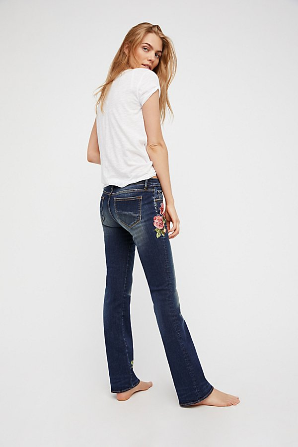 Slide View 3: Kelly Embroidered Baby Bootcut Jeans