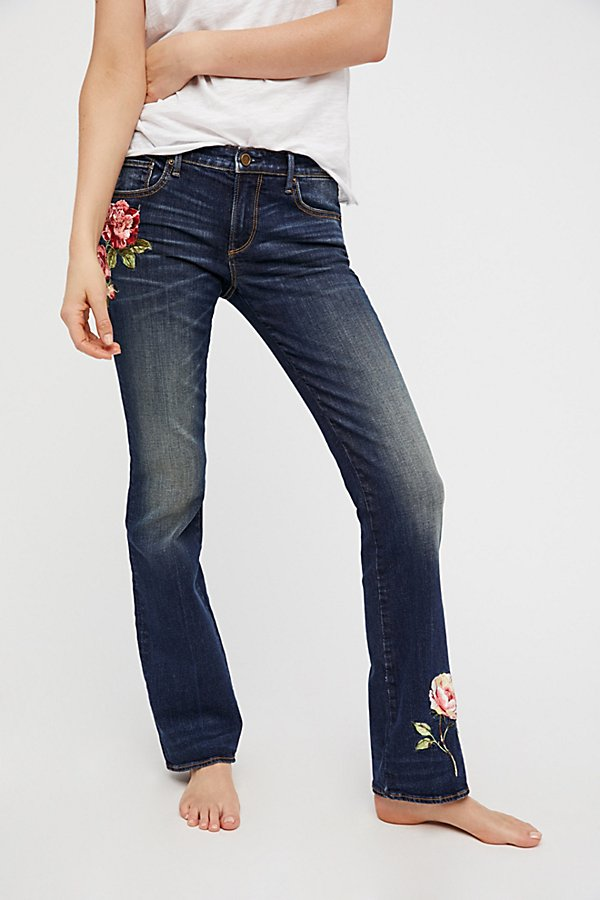 Slide View 4: Kelly Embroidered Baby Bootcut Jeans