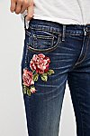 Thumbnail View 1: Kelly Embroidered Baby Bootcut Jeans