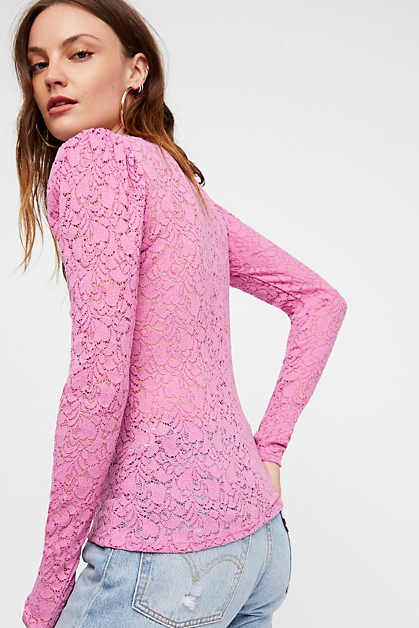 Slide View 1: Lace Puff Sleeve Layering