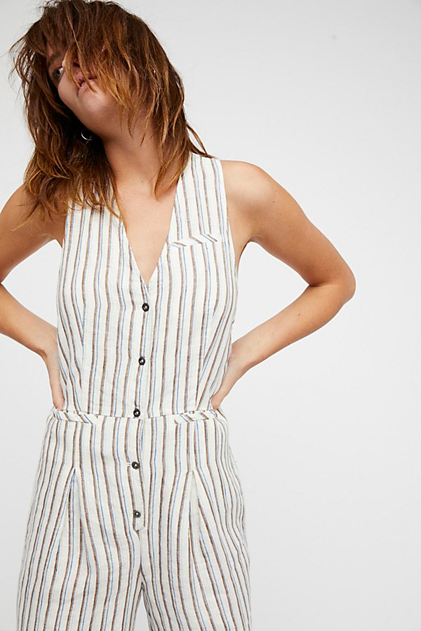 Slide View 4: Fitted Vest One-Piece Playsuit