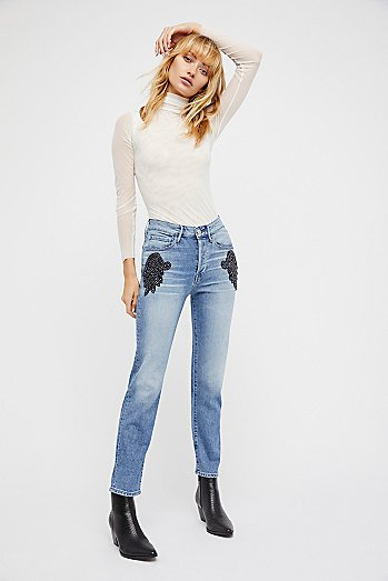 Burke Beaded Boyfriend Crop