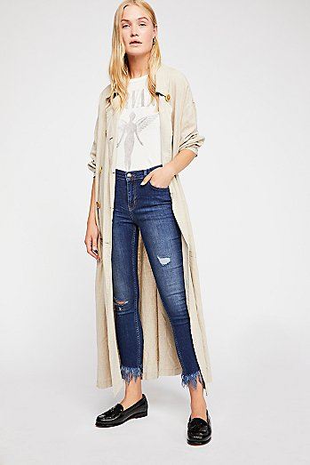 Great Heights Frayed Skinnies