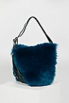 Thumbnail View 3: Faux Fur Convertible Backpack
