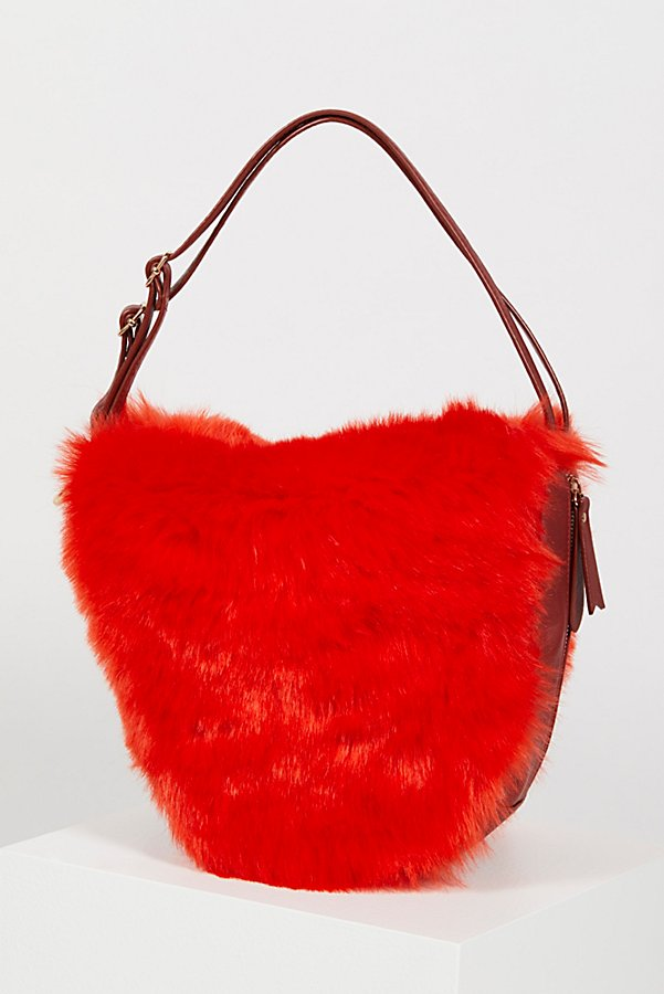 Slide View 2: Faux Fur Convertible Backpack