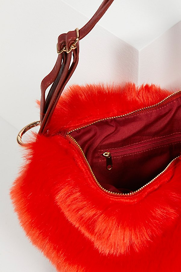 Slide View 4: Faux Fur Convertible Backpack