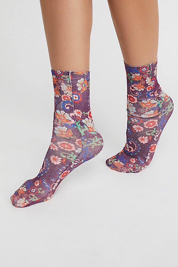 Slide View 1: Stole The Show Printed Sock
