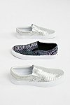 Thumbnail View 1: Classic Slip-On Metallic Snake Trainer
