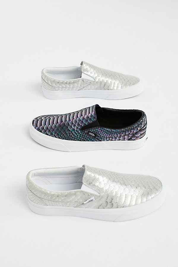 Slide View 1: Classic Slip-On Metallic Snake Trainer