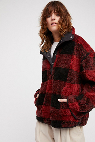Oh So Cozy Plaid Pullover Free People