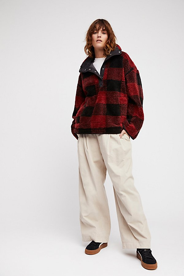 Slide View 4: Oh So Cozy Plaid Pullover
