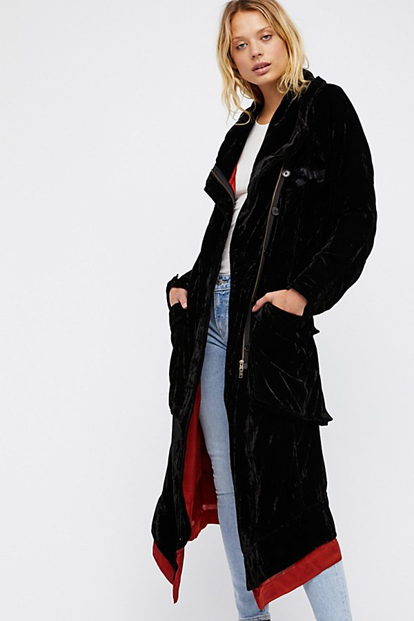 Slide View 1: Felix Velvet Trench Coat