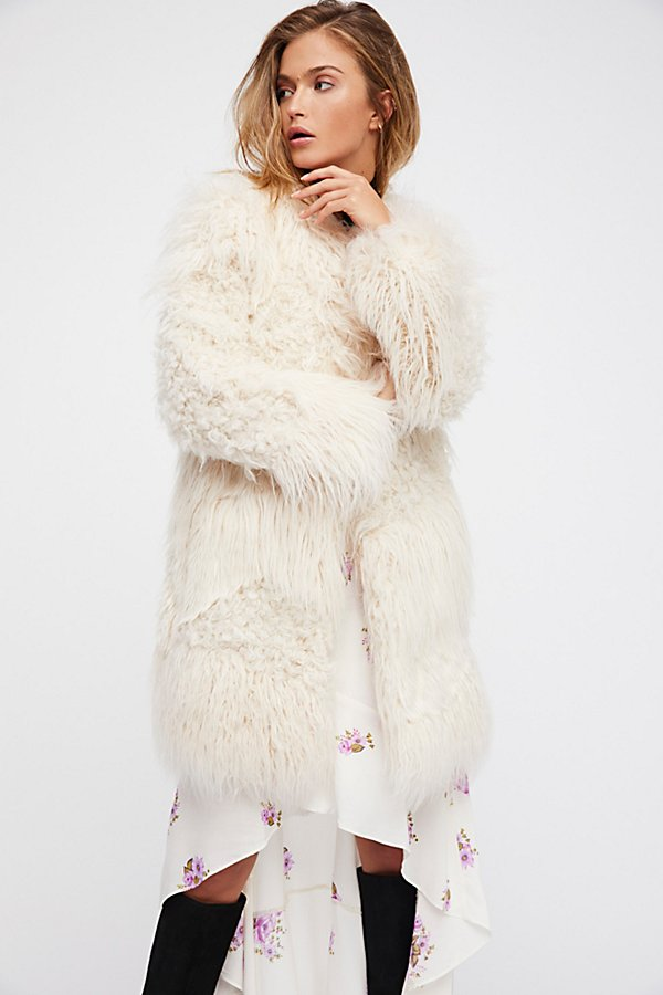 Slide View 1: Lamy Faux Fur Coat