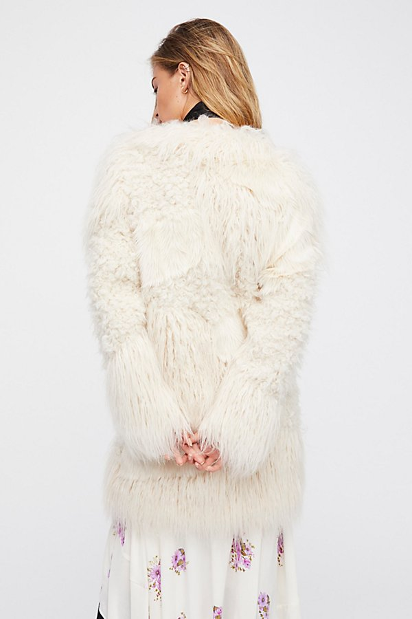 Slide View 3: Lamy Faux Fur Coat