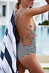 Thumbnail View 3: Farrah One Piece Striped Swimsuit