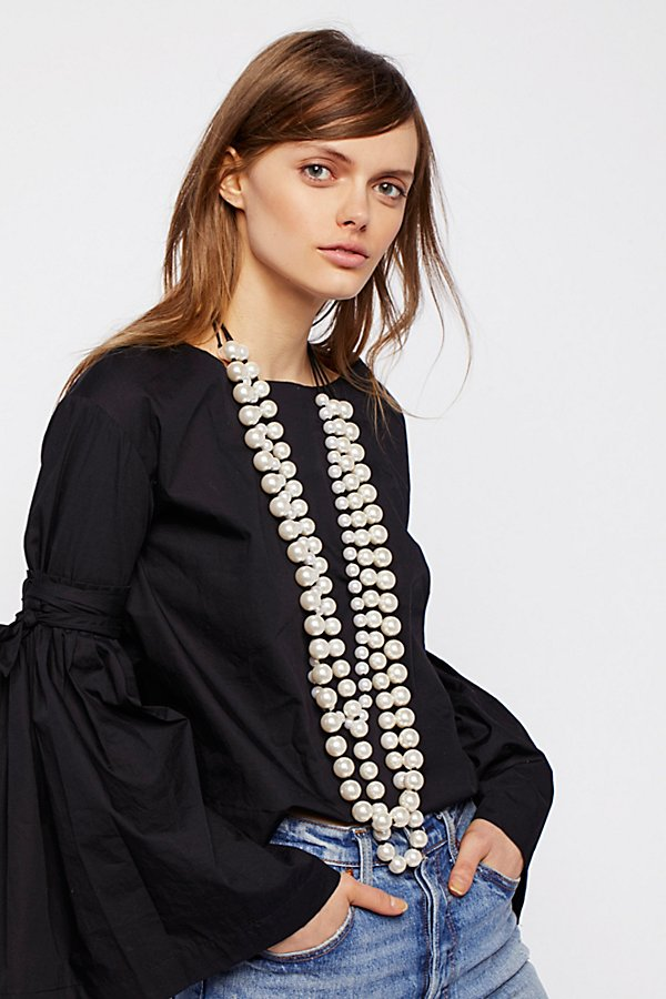 Slide View 1: Selene Statement Pearl Necklace