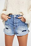 Thumbnail View 3: High-Rise Bandit Denim Shorts