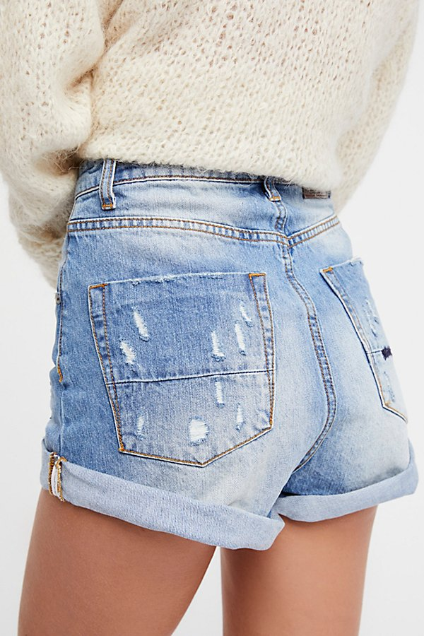 Slide View 4: High-Rise Bandit Denim Shorts