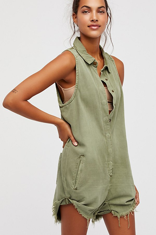Slide View 1: Militaire Drill Playsuit