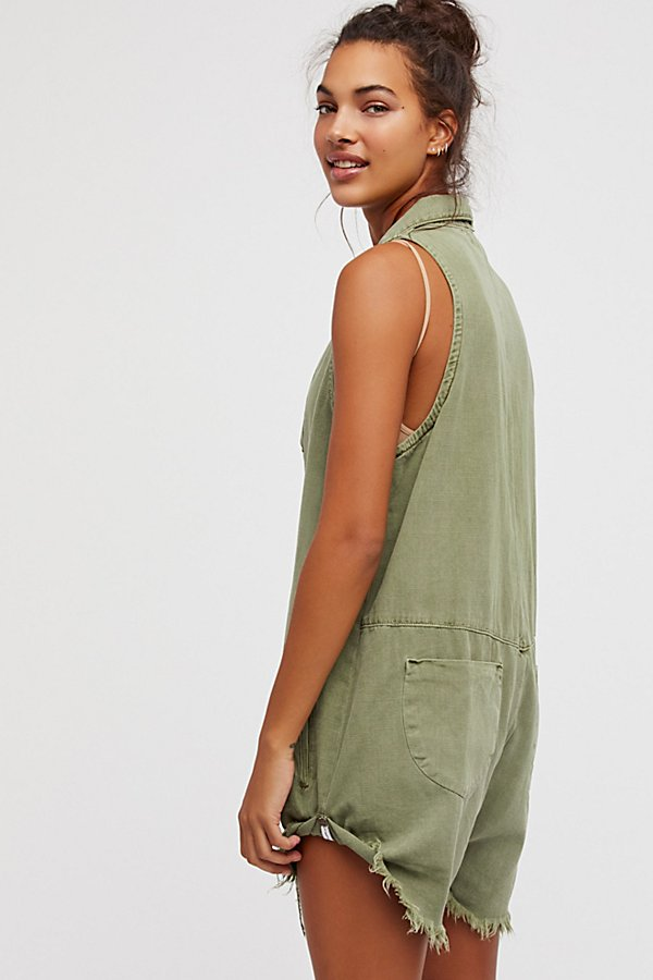 Slide View 2: Militaire Drill Playsuit