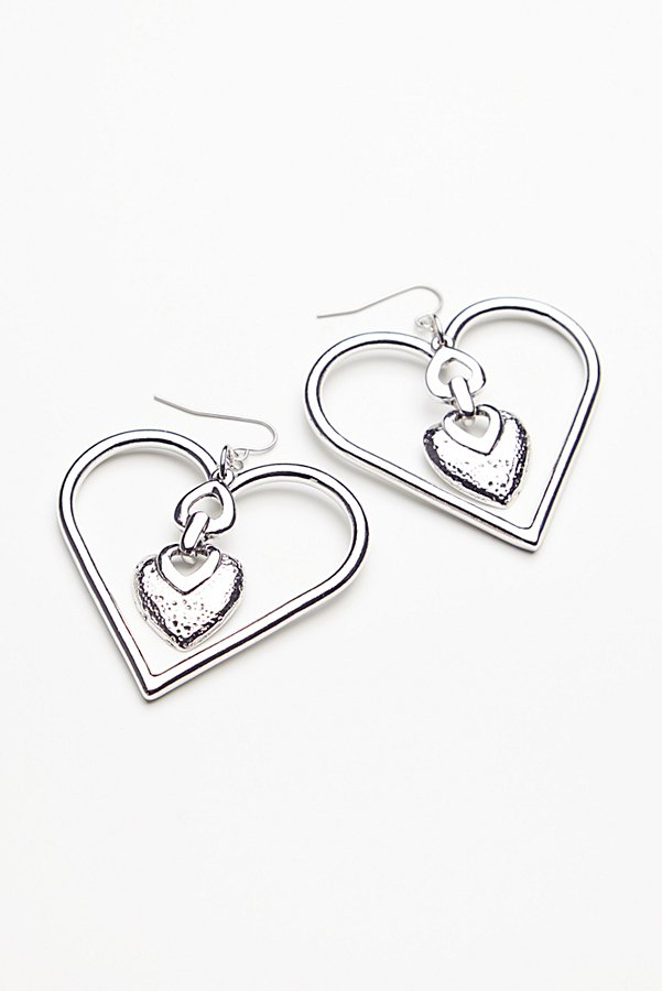 Slide View 2: Heart To Heart Charm Earrings