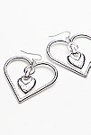 Thumbnail View 3: Heart To Heart Charm Earrings