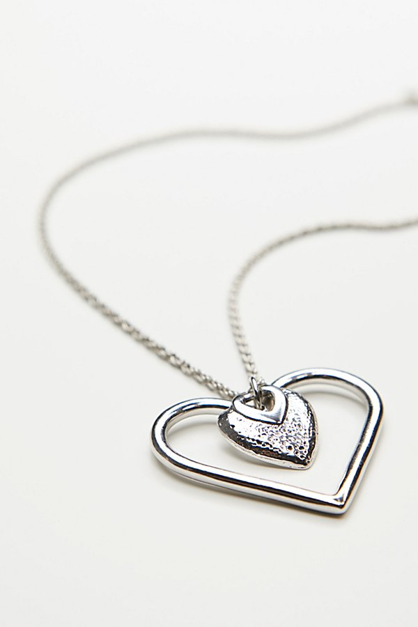 Slide View 2: Charmed Heart Lariat Necklace