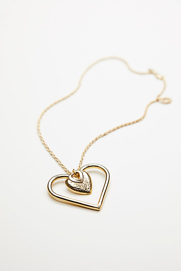Slide View 3: Charmed Heart Lariat Necklace