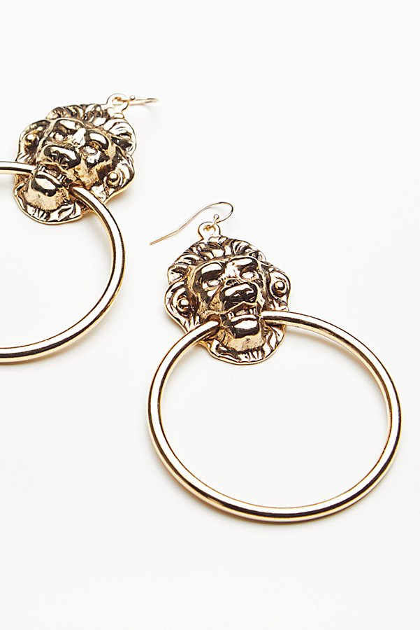 Slide View 2: Lion's Den Knocker Earrings