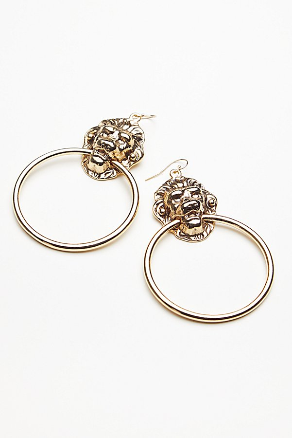 Slide View 3: Lion's Den Knocker Earrings