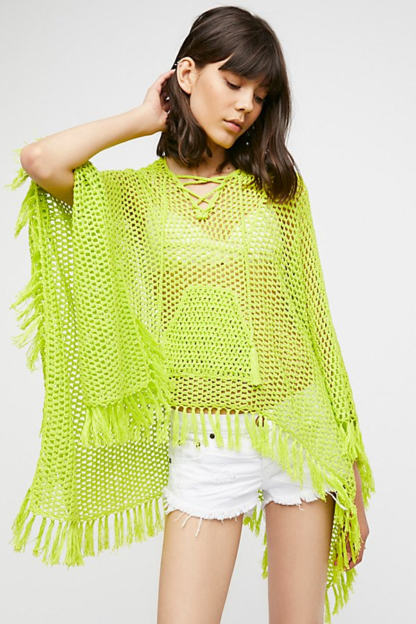 Slide View 1: Summer Breeze Hooded Poncho