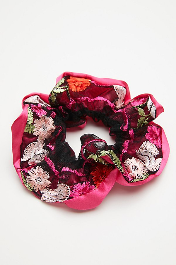 Slide View 2: Embroidered Scrunchie