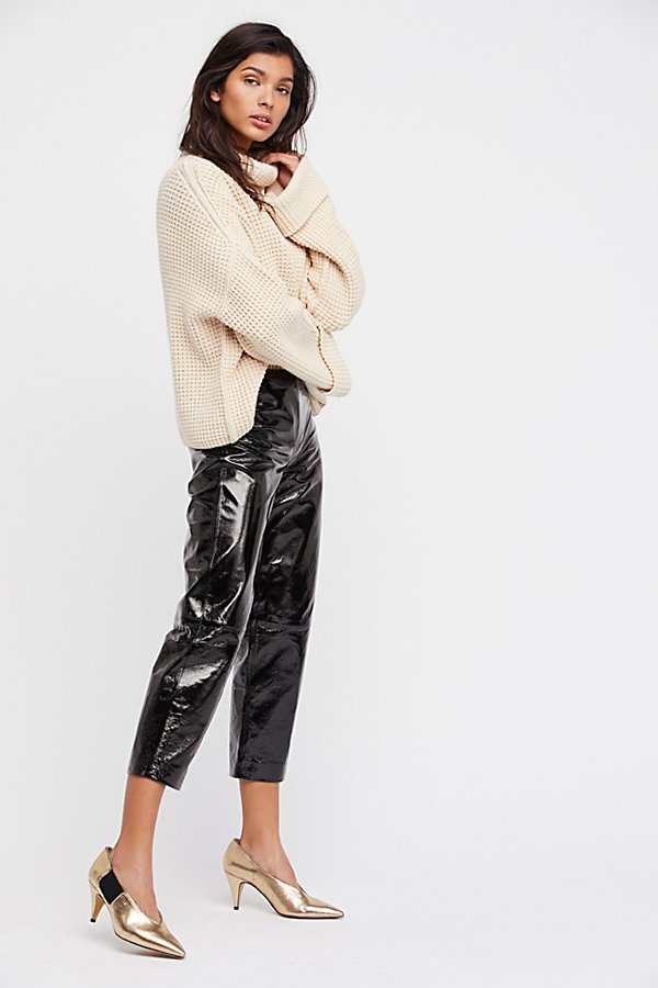Slide View 1: Patent Leather Pants