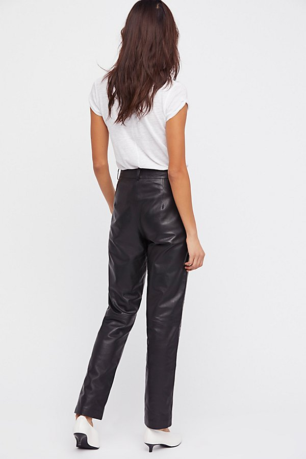 Slide View 4: Studded Leather Pants